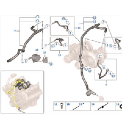 Система охлаждения турбонагнетателя/SCR