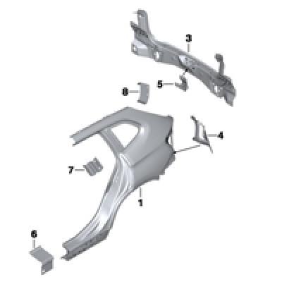 Крыло/облицовка задней части