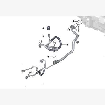 Напорный трубопровод компрессор-конденс