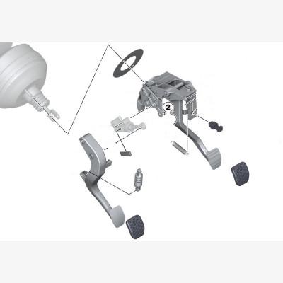 Педальный механизм для а/м с МКПП